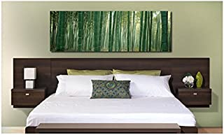 Valhalla Designer - King Platform Floating King Bed Headboard with Integrated Nightstands New Set King for big King Furniture in your Bedroom Suite nice Sale King and Cheap King Bed California style set. (Expresso)