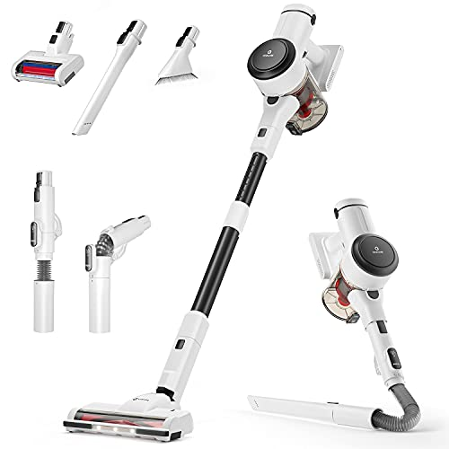 NEQUARE Cordless Vacuum Cleaner, 10 in 1 Vacuum Cleaner with 280W Powerful Suction, 40mins Self-Standing Stick Vacuum for Car Pet Hair Carpet Hard Floor S25Pro
