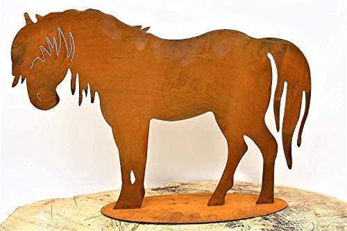 Rostikal Dekofigur Pferd 30 cm Edelrost Gartendeko Vintage Dekoration Rost Deko für Garten
