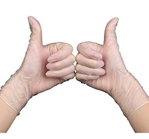 100 Transparent Medium Disposable Poeder-vrij Vinyl Handschoenen, Beschermende Handschoenen, Latex-vrij, Makkelijk Mee Te Nemen (Size : M)