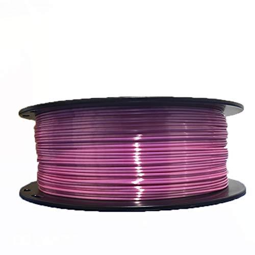 LHF 1.75mm 1kg Spool,Dimensional Accuracy Of - +0.02mm,Shine Silky Gold 3D Pen Printing Filament,Silk PLA 3d Printer Filament Powder Purple Pla 1kg