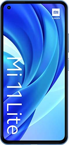 "Xiaomi Mi 11 Lite (Pantalla 6.55"" AMOLED DotDisplay FHD+ , 6GB+64GB, Triple Cámara 64MP, Snapdragon 732G, 4250mah con carga 33W) Azul [Versión Española]"