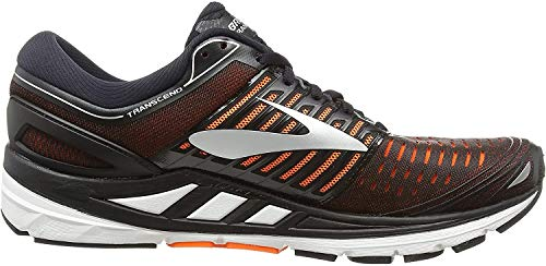 Brooks Transcend 5, Zapatillas de Running para Hombre, Multicolor (Black/Orange/Silver 092), 41 EU