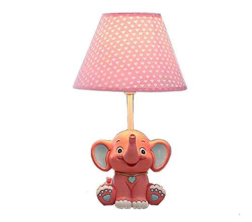 Moderne Led Design Éléphant Lampe de Table de Chevet Veilleuse Enfant Chambre Fille Salon idéal pour lire, travailler et étudier. (Rouge)