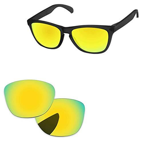 sunglasses restorer Cristales Polarizados de Recambio Color Gold24K para Oakley Frogskins