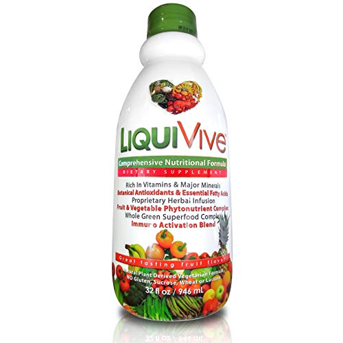LiquiVive Liquid Vitamins Vegetarian Dietary Mega Supplement | Daily Multivitamin Superfood Immune...