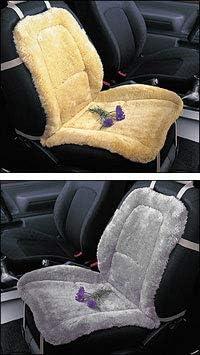 Black Engel Universal Sheepskin Seat Cushion Cover