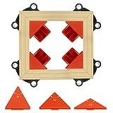morsetto angolare, 4 pezzi morsetti ad angolo retto a 60 90 120 gradi, morsetti da falegname per lavorazione del legno, armadi, cassetti e cornice