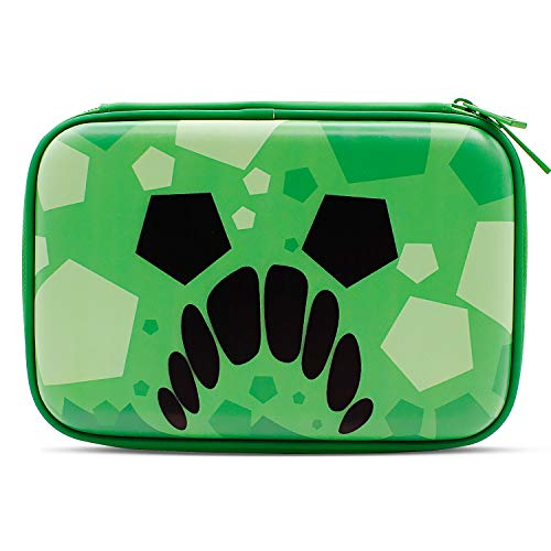 Green Grid Monster Pencil Case Boys Cute School Supply Organizer Cool Pen Box Holder Bag with Zipper for Kids