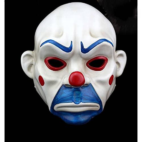 N\C Accesorios de película de Halloween Dark Knight Payaso Máscara de ladrón Mascarada Dance Bar Máscara de Fiesta