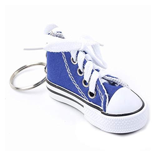 jsobh Colgante Llavero Lindo Mini simulación Zapatos de Lona Llavero Llavero for Mujer niña Souvenir Regalo Mujer Bolso Llavero Accesorios Dibujos Animados (Color : Blue)