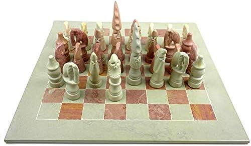 handgeschnitzt Speckstein Animal Chess Set 38,1  Board smolart