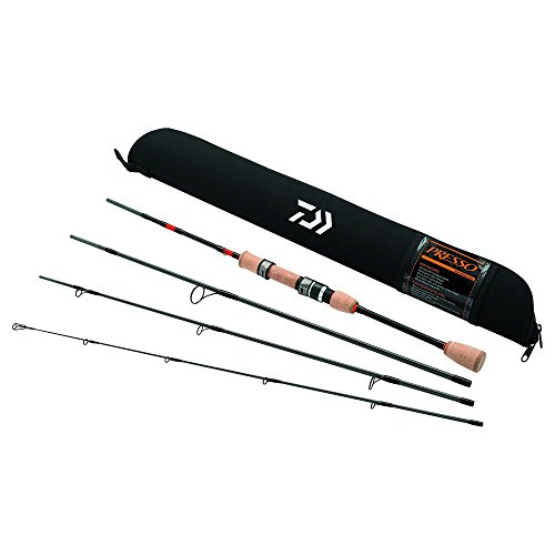 Daiwa PSO704ULFS-TR Presso Ultralight Pack Spinning Rod, 7' Length, 4Piece Rod, Ultralight Power, Fast Action