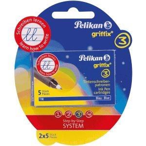 Pelikan 8 x Patronen für Tintenschreiber griffix T1R/5 Blister VE=2x5 Stück