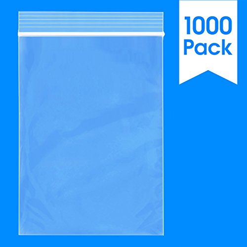 Spartan Industrial    1000 Count - 4 X 6 - 2 Mil Clear Plastic Reclosable Zip Poly Bags with Resealable Lock Seal Zipper (More Sizes Available)