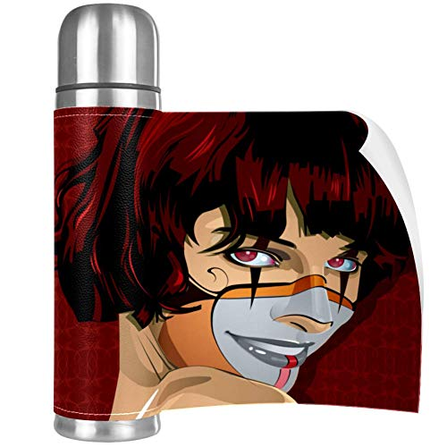 Xingruyun Maquillaje De Diablo Mujer Taza De Termo De Acero Inoxidable 500ml...