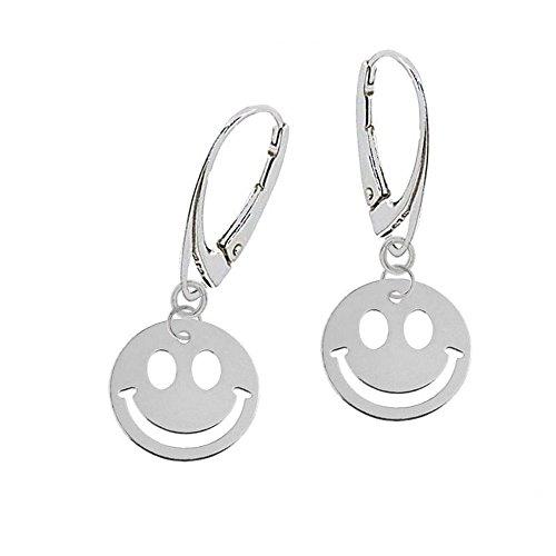 gh1a Smiley orecchini a monachella in argento Sterling 925orecchini pendenti da donna ragazza idea regalo