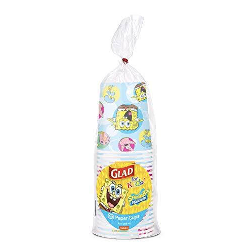 Glad for Kids 9oz Spongebob Squarepants Paper Cups, 20 Ct-Disposable...