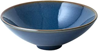 Ceramic Creative Bucket Ramen Soup Bowl Western Plate Fruit Plate Nordic Ceramic Plate Hotel Tableware Blue 17.5x5.5cm