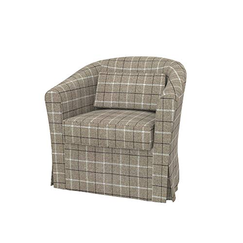 Soferia Bezug fur IKEA EKTORP TULLSTA Sessel, Stoff Stewart Beige Check