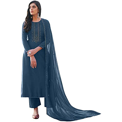Heavy Collection Salwar Kameez Pant Suits Ready to Wear Traditional Function Wear Dress (Choice 1, 8 US Medium (Chest-40 Waist-36))