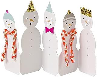 Meri Meri Concertina Snowmen Card (Individual)