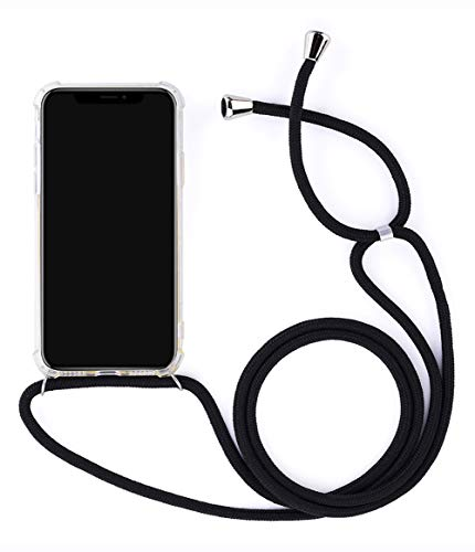 ZCXG Kompatibel Mit Handykette Handyhülle Samsung Galaxy S9 Hülle Silikon Transparent Stoßfest Ultra Slim Kratzfest Necklace Hülle mit Kordel zum Umhängen Schutzhülle Silikon TPU Bumper Case