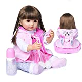 Rebirth Doll, Reborn Baby Doll,22inch 55cm Realistic Dolls Toddler Full Silicone Body Lifelike Real Looking Dolls for Kids Toy Gift