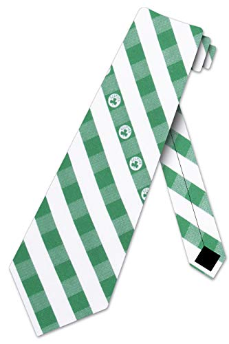 Boston Celtics Check Poly Necktie