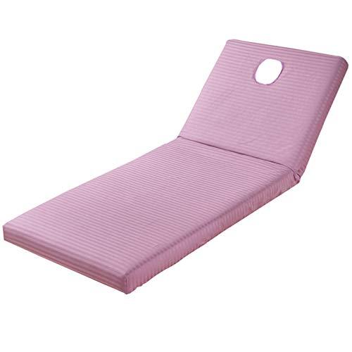 Amusingtao Hoja de mesa de masaje, ropa de cama con agujero para la cara cubierta de cama de masaje de mezcla de algodón para spa