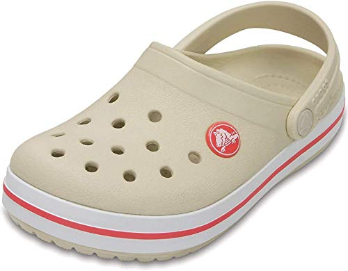 crocs Unisex-Kinder Crocband K Clogs, Stucco/Melon, 34/35 EU