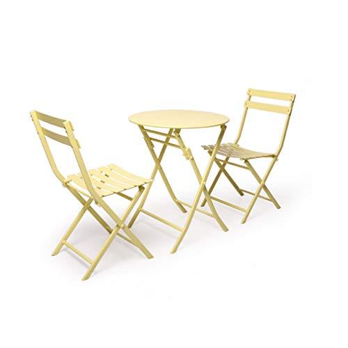 ZPWSNH Set van Tafels En 2 Stoelen Vouwen Tuintafels En Stoelen Metaal Outdoor Terras Bistro Tuinstoelen stoel