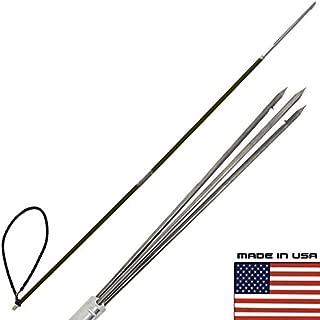 Scuba Choice Carbon Fiber Travel Spearfishing 2 Pole Spear 3 Prong Paralyzer Hawaiian Sling, 7-Feet
