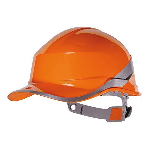 Delta Plus Diamond V Casco Rigido Di Sicurezza In Stile Cappellino Da Baseball, Arancione, Talla única