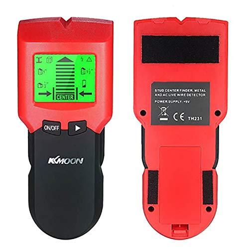 QAIYXM Localizador de Montantes, Stud Detector Detector de Metales Derecho de Pared con Gran Pantalla LCD Digital Montantes de Madera de búsqueda y Cable Cargado Advertencia escáner