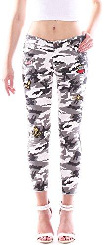 Style-Station24 Damen Camouflage Jeans Hose, Hüfthose, Röhrenjeans