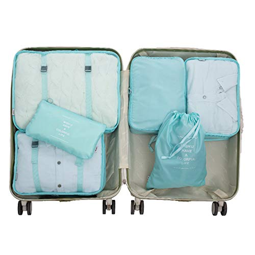 Packing Cubes for Suitcase, 6 Pcs Suitcase Organiser Bags, High Quality Suitcase Travel Organiser, Hand Luggage Packing Cubes Value Set for Travel Suitcase Lightweight Luggage Packing