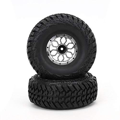 Neumático de camión RC Duradero Neumáticos de Coche RC para camión sobre orugas 1/10 RC(C Section Black)