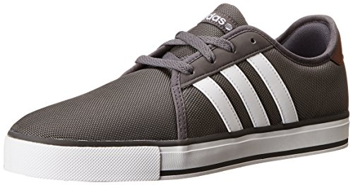 adidas NEO SK LVS Skate Sneaker, Granite/White, 13 M US