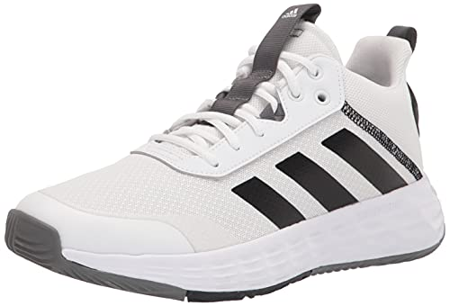 Adidas Men's OWNTHEGAME 2.0 Cross Trainer, White/Black/Grey, Numeric_11_Point_5