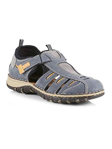 Walbusch Herren Klepper Trekking Sandalenschuh einfarbig Blau 42