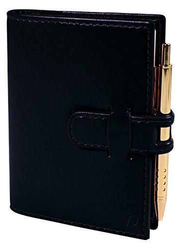 Quo Vadis 20916819MQ Miniday Kalender 2019 (7x10 cm, 1 Tag pro Seite, mehrsprachig, elfenbeinfarbenes Papier, Fadenbindung, Adressverzeichnis) 1 Stück schwarz