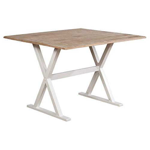 "40"" Drop Leaf Rustic Dining Table White - Threshold™"