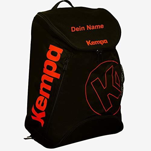 Kempa Handball Rucksack schwarz/orange - auf Wunsch mit Aufdruck Name