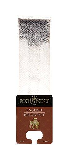 RICHMONT ENGLISH BREAKFAST 50 Stk. Premium Selected Tee in Beuteltee. Teebeutel mit einzigartiger Aufhängung für Teekanne oder Teetasse