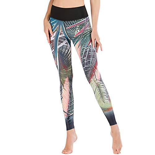 MORCHAN Mode Femmes Couleur Unie Leggings Taille Haute Pantalon de Yoga décontracté Sport serréC-Multicolore/X-Large