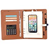 Rockingtail Multi Functional Notebook with 8000 mAh Power Bank USB Charger Binder Spiral Diary Notebook + Calculator + 16g USB Flash Di for Business Owners,10PCS