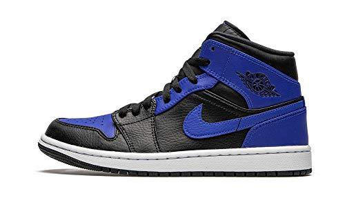 Nike Air Jordan 1 Mid, Scarpe da Basket Uomo, Black/Hyper Royal-White, 40 EU
