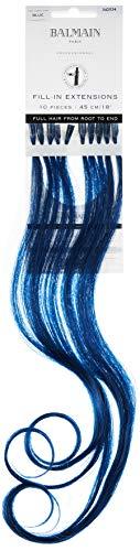 Balmain Fill-In Extensions Echthaar, 10 Stück, 45 cm Länge, blau, 0,027 kg