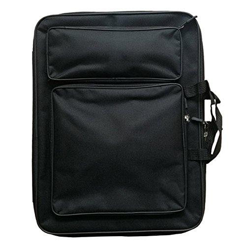 Mackur Künstlermappe, 50 x 37 cm, Multifunktionale Skizzen-Taschen, Maltafel, Textil, Schwarz, 50 * 37 cm